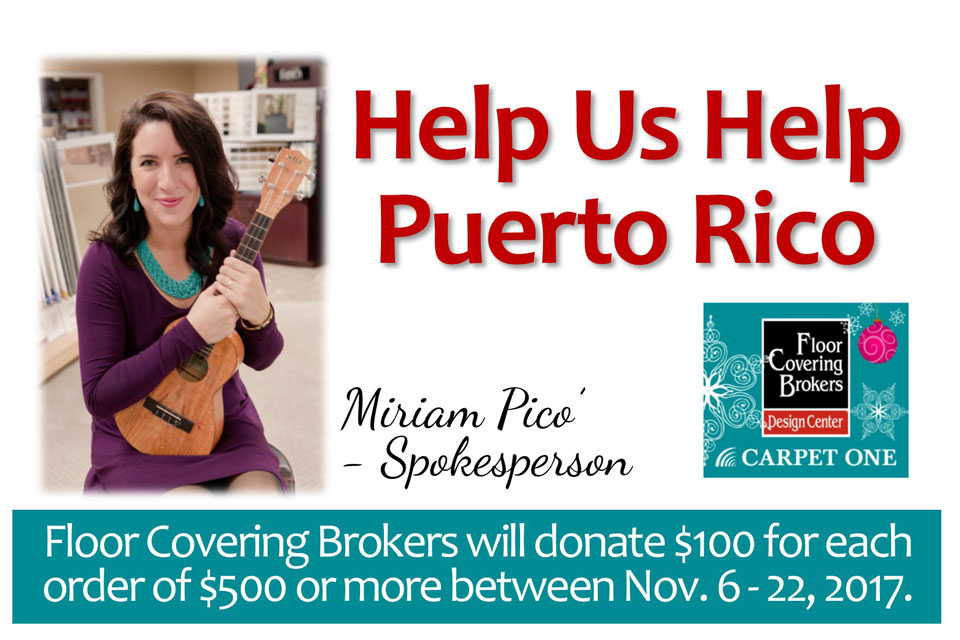 Puerto Rico Relief Floor Covering Brokers