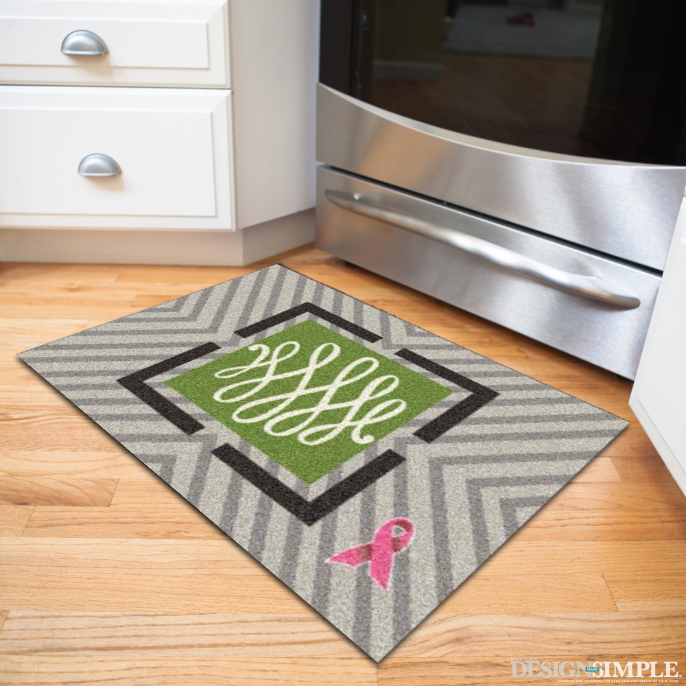 Lisa Mende Pink Ribbon Welcome Mat